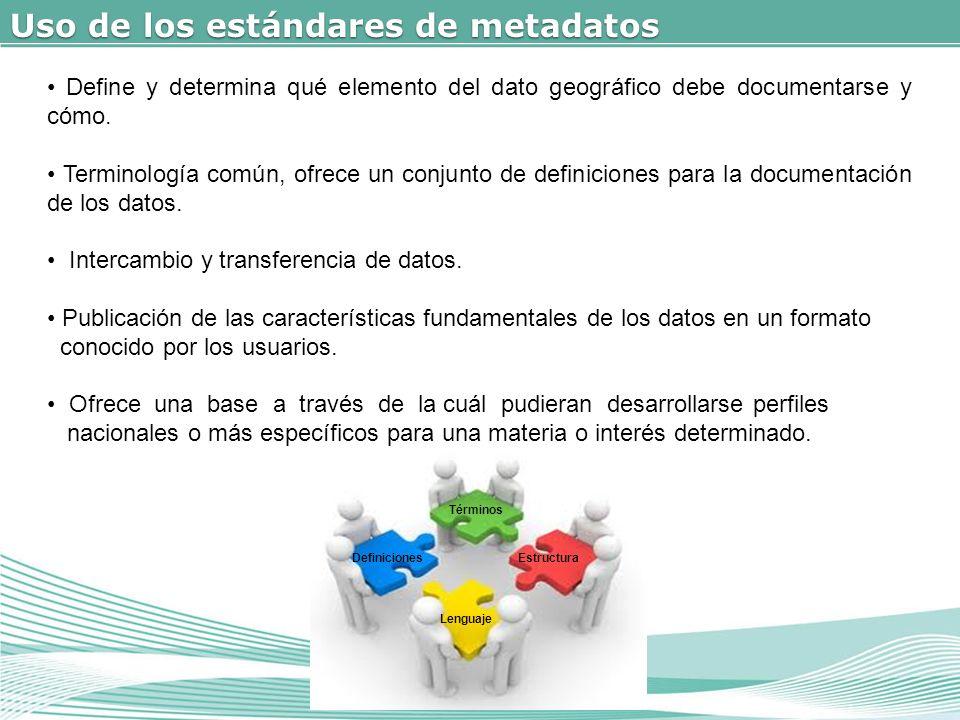 Uso de los estándares de metadatos
