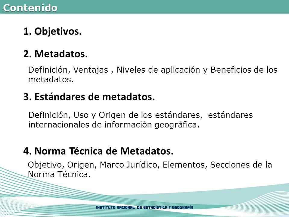 3. Estándares de metadatos.