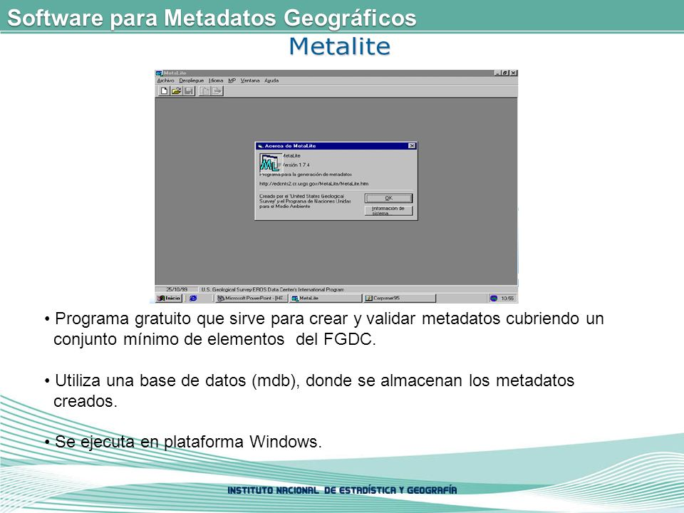 Software para Metadatos Geográficos