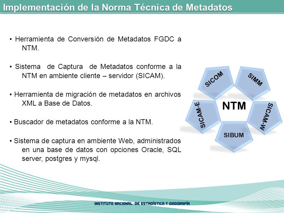NTM Implementación de la Norma Técnica de Metadatos
