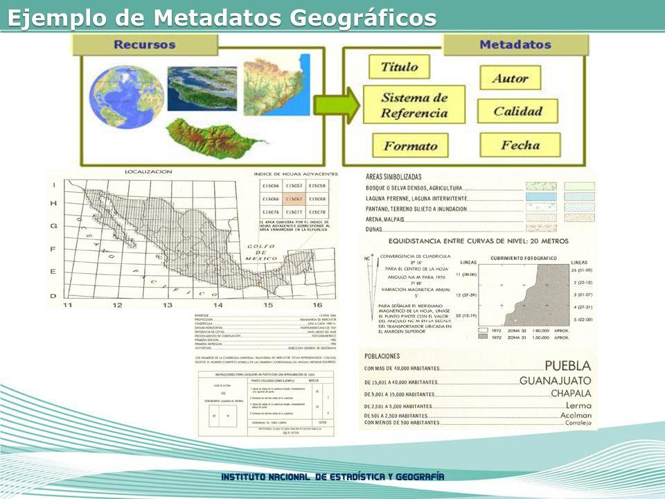 Ejemplo de Metadatos Geográficos