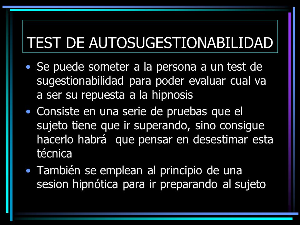 TEST DE AUTOSUGESTIONABILIDAD