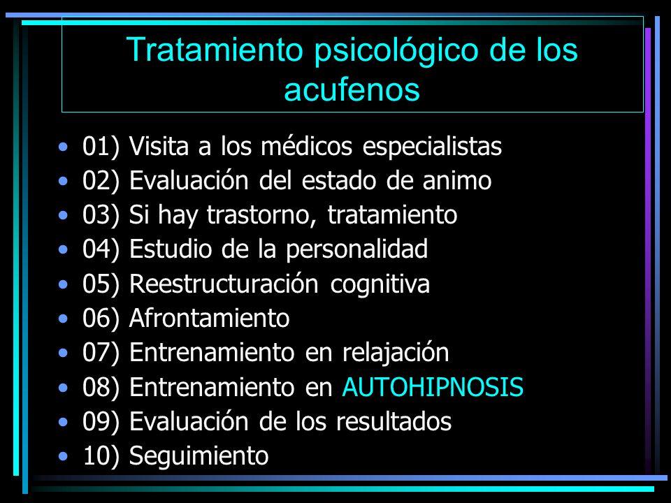 Tratamiento psicológico de los acufenos