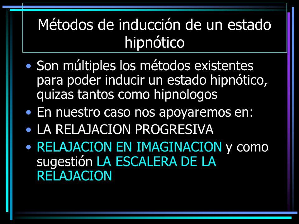 Métodos de inducción de un estado hipnótico