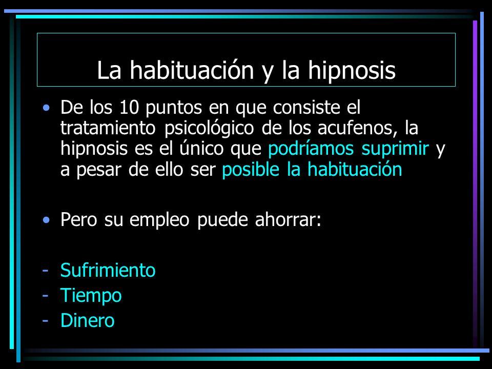 La habituación y la hipnosis