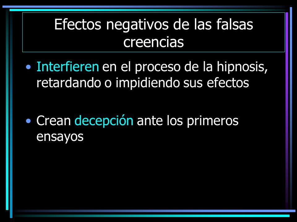 Efectos negativos de las falsas creencias