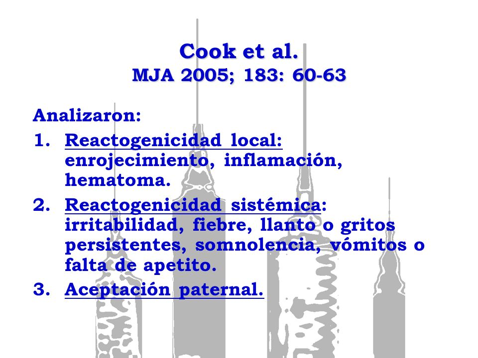 Cook et al. MJA 2005; 183: 60-63 Analizaron: