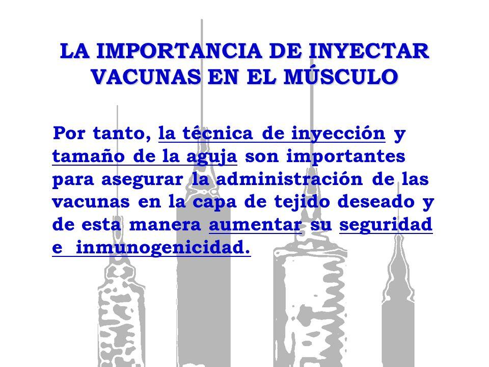 LA IMPORTANCIA DE INYECTAR VACUNAS EN EL MÚSCULO