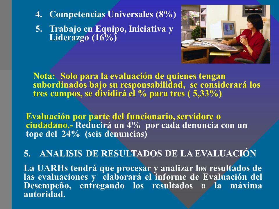 Competencias Universales (8%)