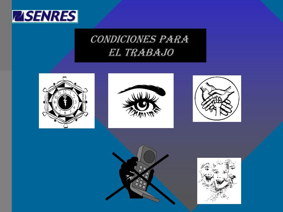CONDICIONES PARA EL TRABAJO