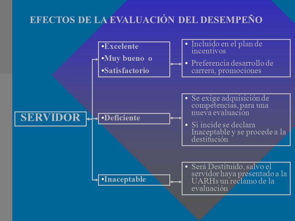 SERVIDOR EFECTOS DE LA EVALUACIÓN DEL DESEMPEÑO