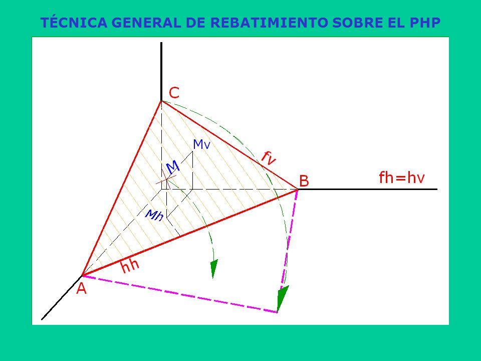 TÉCNICA GENERAL DE REBATIMIENTO SOBRE EL PHP