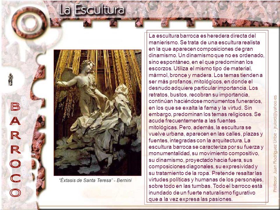 La escultura barroca es heredera directa del manierismo