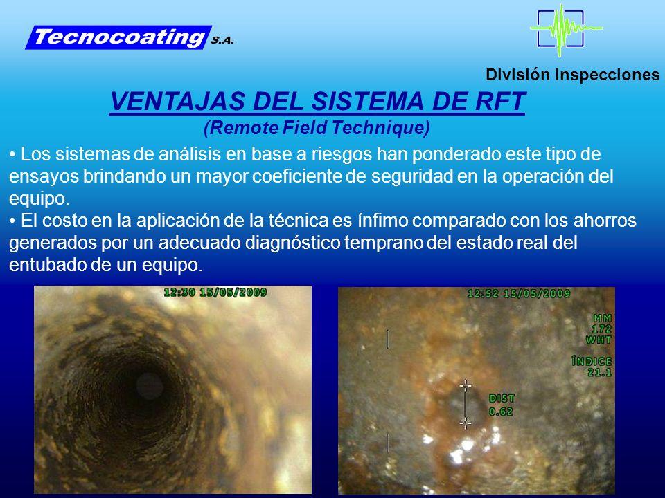 VENTAJAS DEL SISTEMA DE RFT (Remote Field Technique)