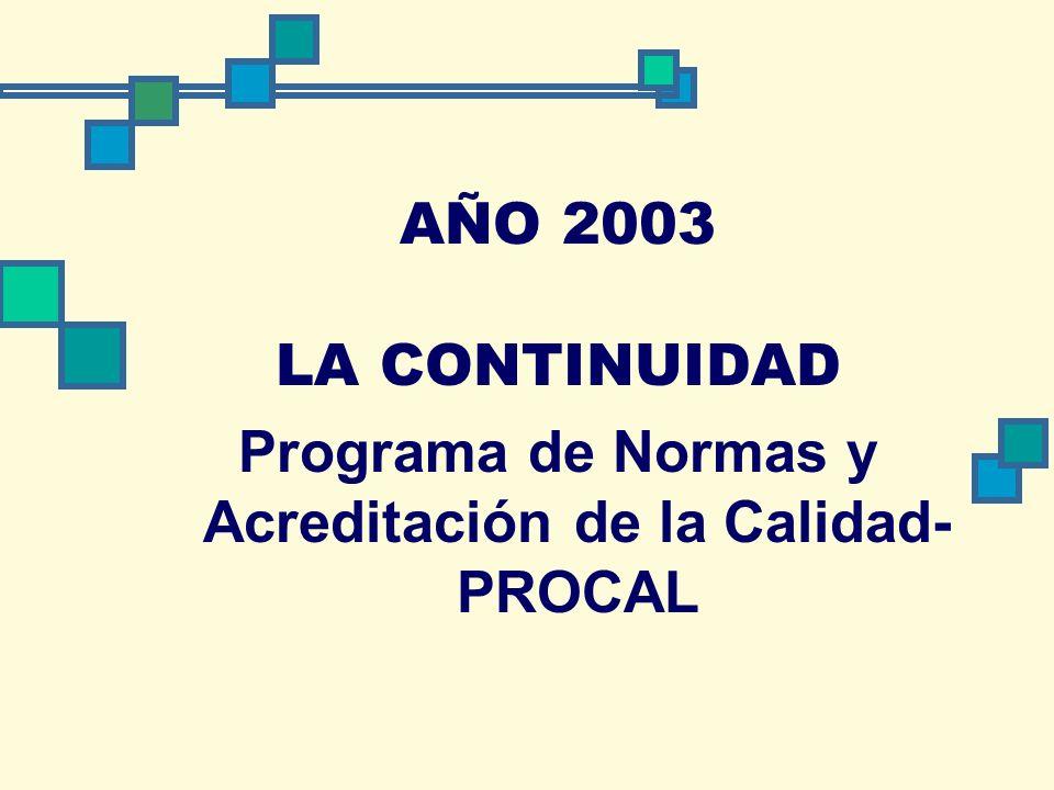 Programa de Normas y Acreditación de la Calidad-PROCAL