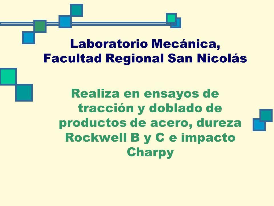 Laboratorio Mecánica, Facultad Regional San Nicolás