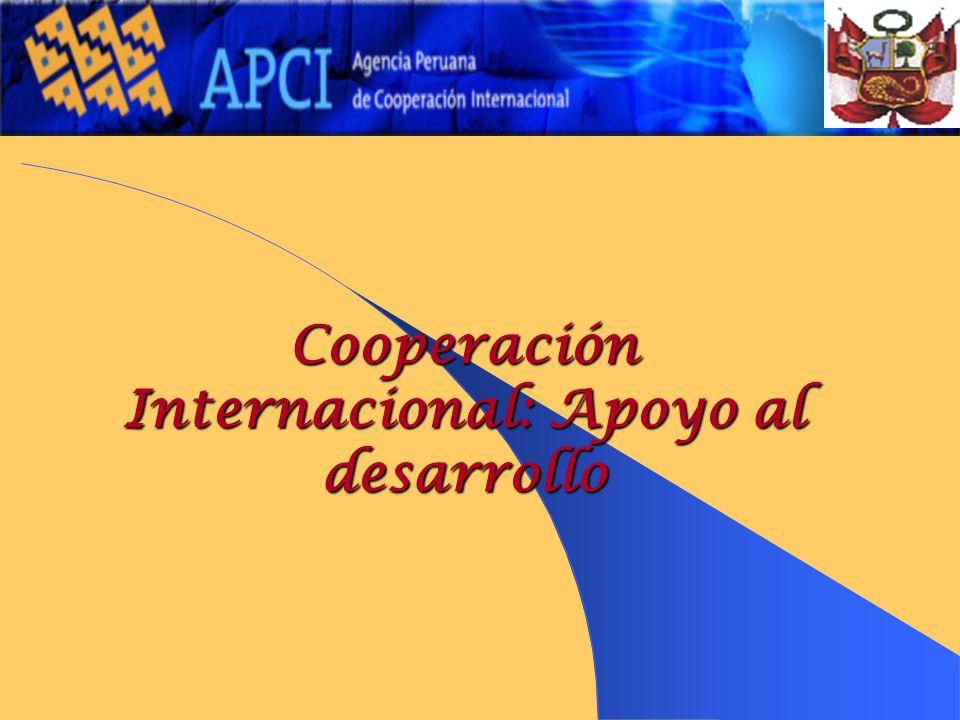 Cooperación Internacional: Apoyo al desarrollo