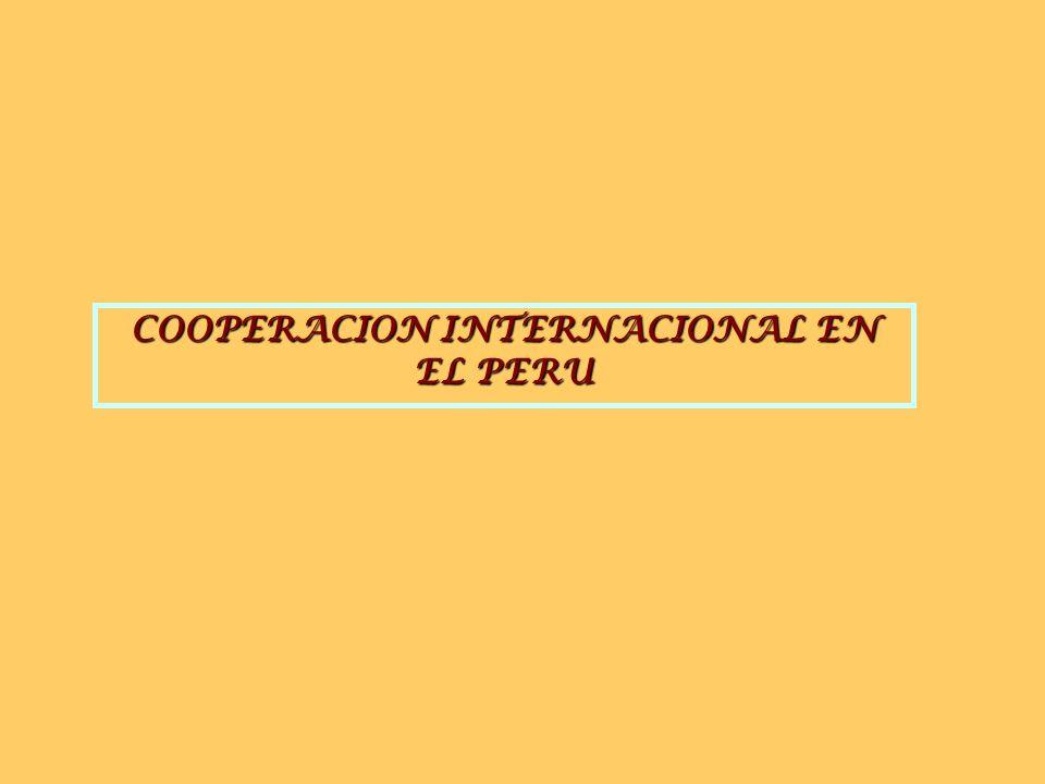 COOPERACION INTERNACIONAL EN EL PERU