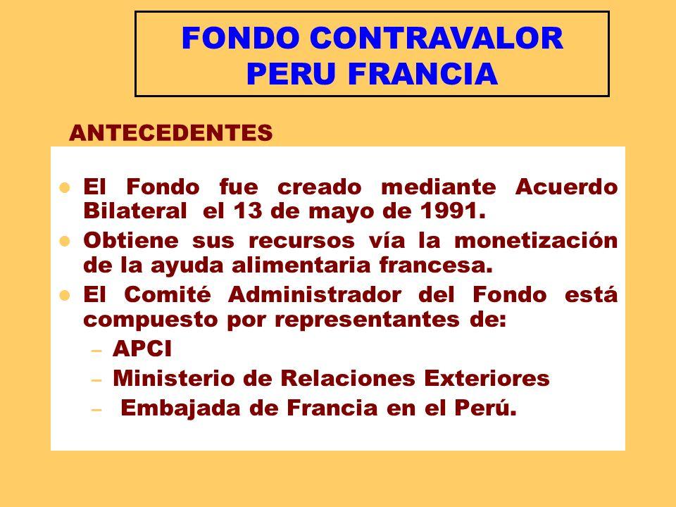 FONDO CONTRAVALOR PERU FRANCIA