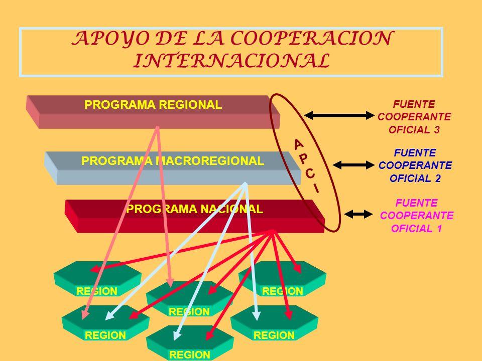APOYO DE LA COOPERACION INTERNACIONAL PROGRAMA MACROREGIONAL