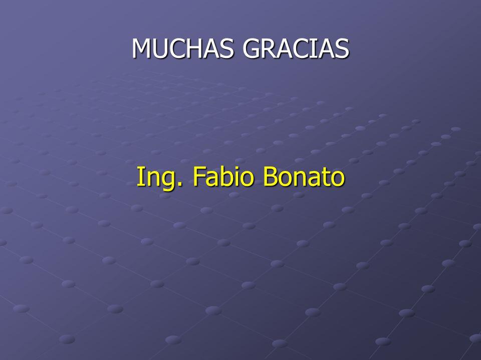 MUCHAS GRACIAS Ing. Fabio Bonato