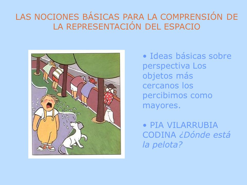 LAS NOCIONES BÁSICAS PARA LA COMPRENSIÓN DE LA REPRESENTACIÓN DEL ESPACIO