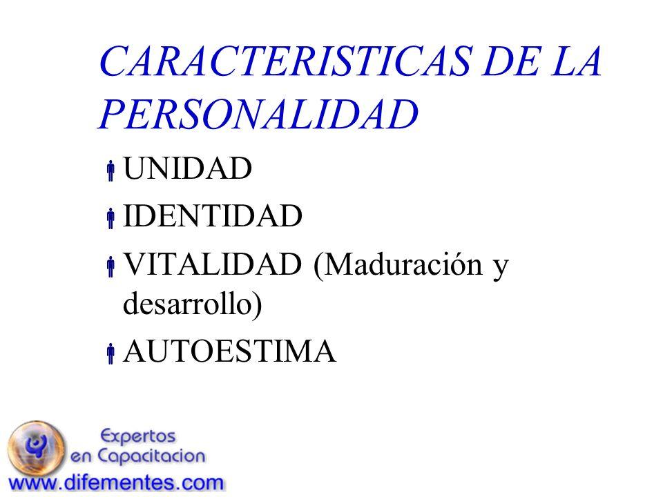 CARACTERISTICAS DE LA PERSONALIDAD