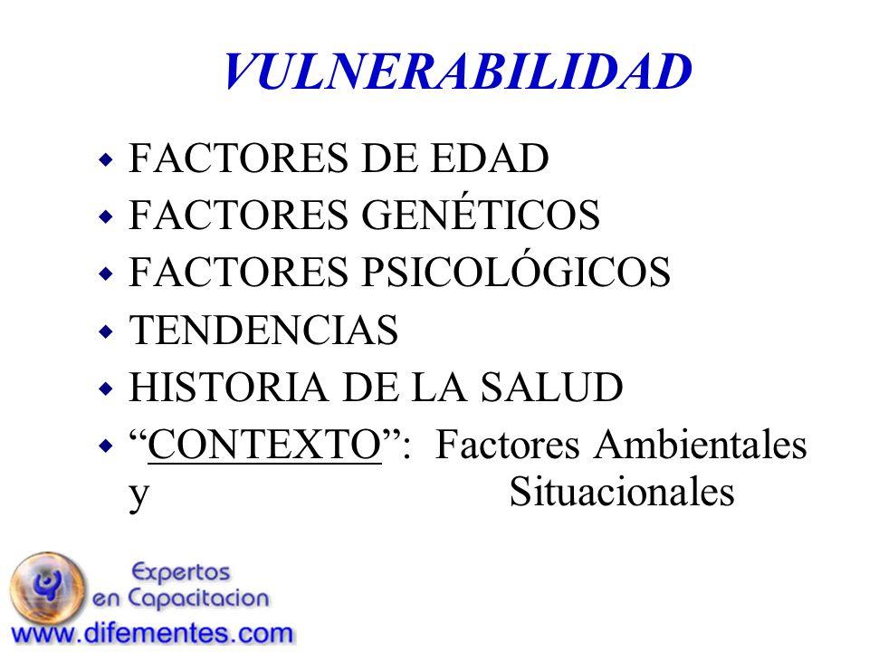 VULNERABILIDAD FACTORES DE EDAD FACTORES GENÉTICOS
