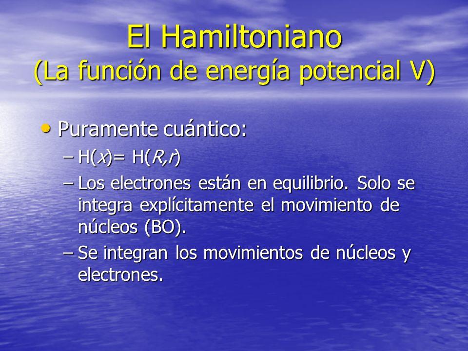 El Hamiltoniano (La función de energía potencial V)