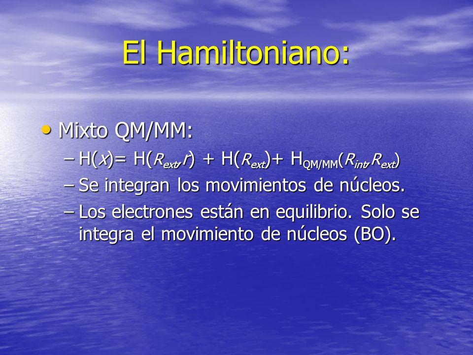 El Hamiltoniano: Mixto QM/MM: