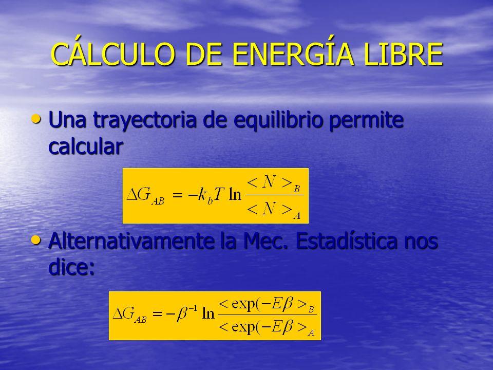 CÁLCULO DE ENERGÍA LIBRE
