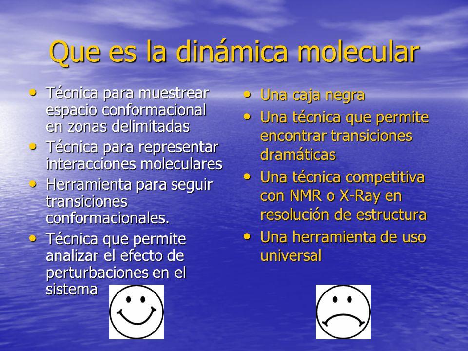Que es la dinámica molecular