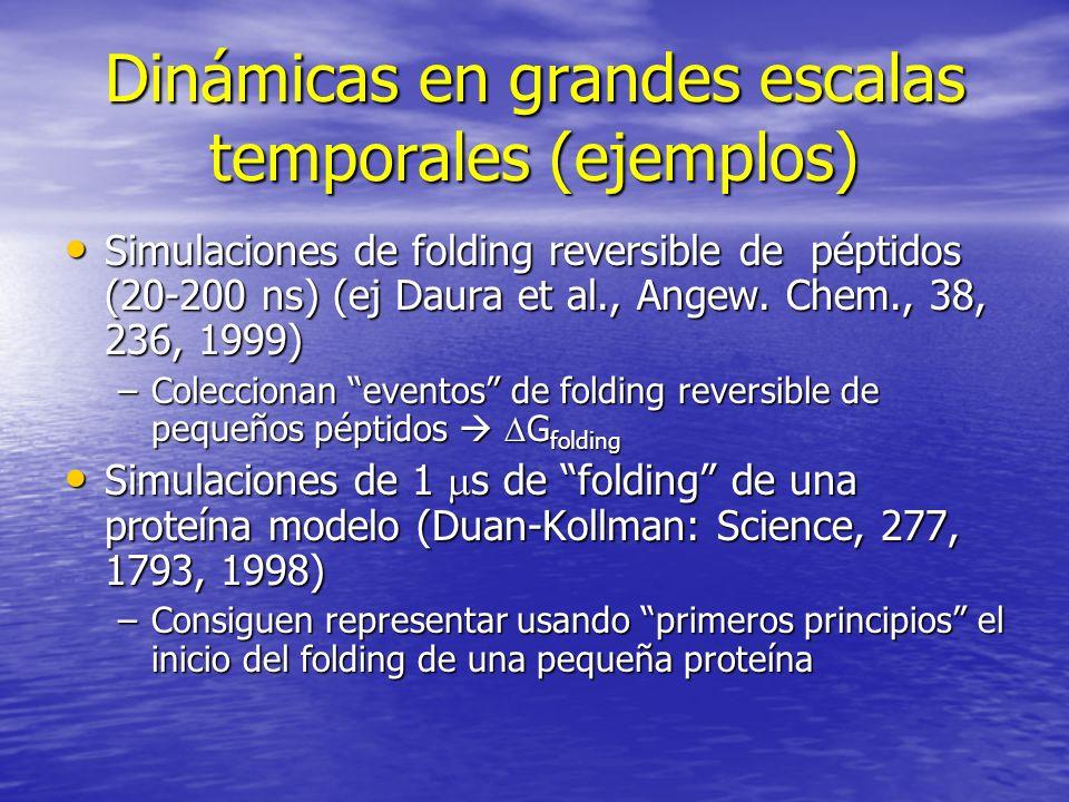 Dinámicas en grandes escalas temporales (ejemplos)
