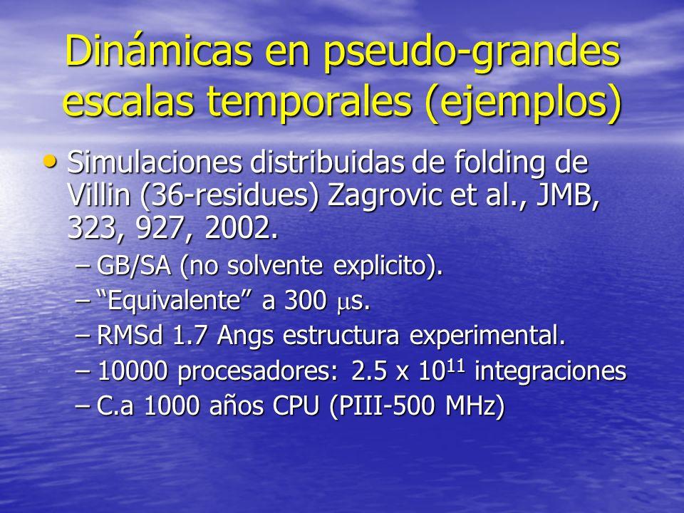Dinámicas en pseudo-grandes escalas temporales (ejemplos)