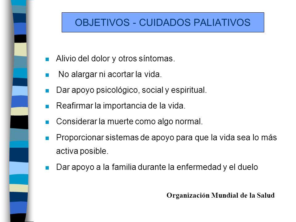 OBJETIVOS - CUIDADOS PALIATIVOS