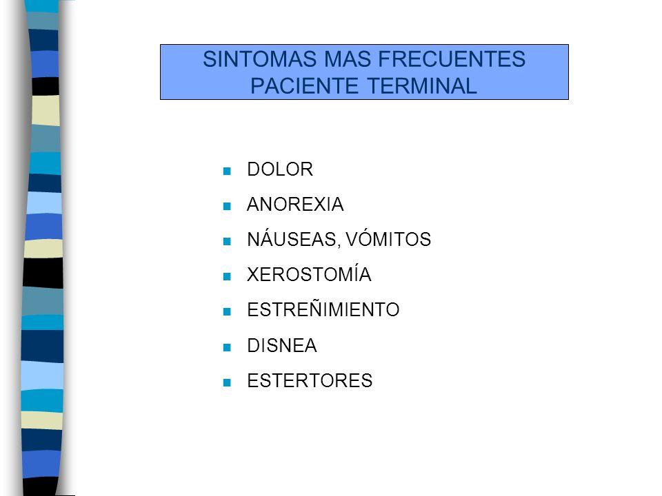 SINTOMAS MAS FRECUENTES PACIENTE TERMINAL