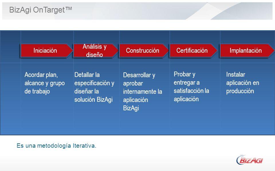 BizAgi OnTarget™ Implantación Análisis y diseño Construcción