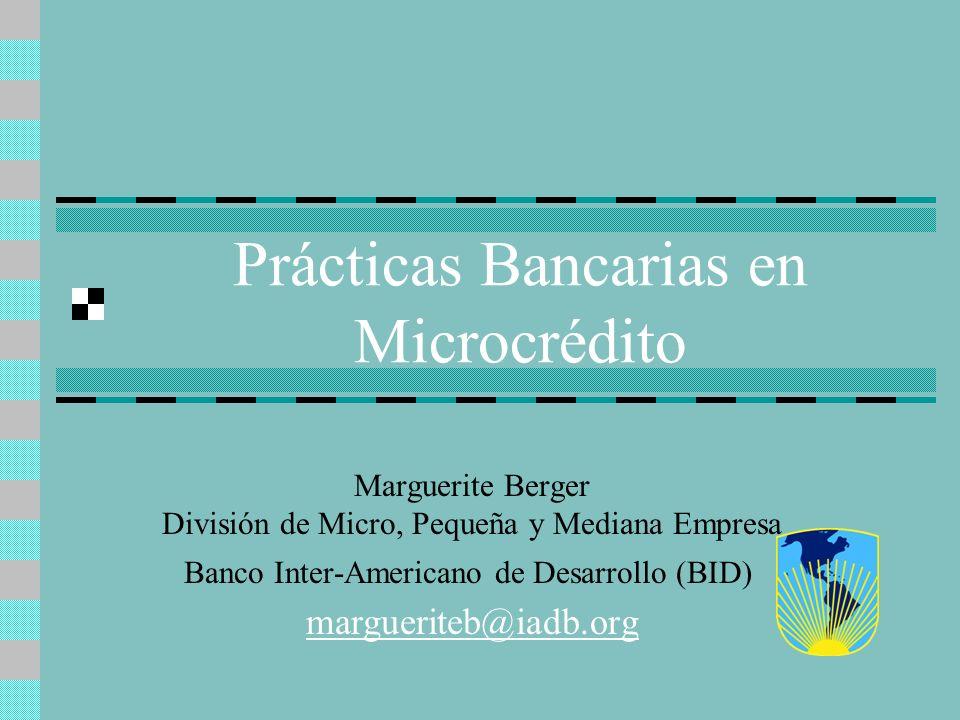 Prácticas Bancarias en Microcrédito