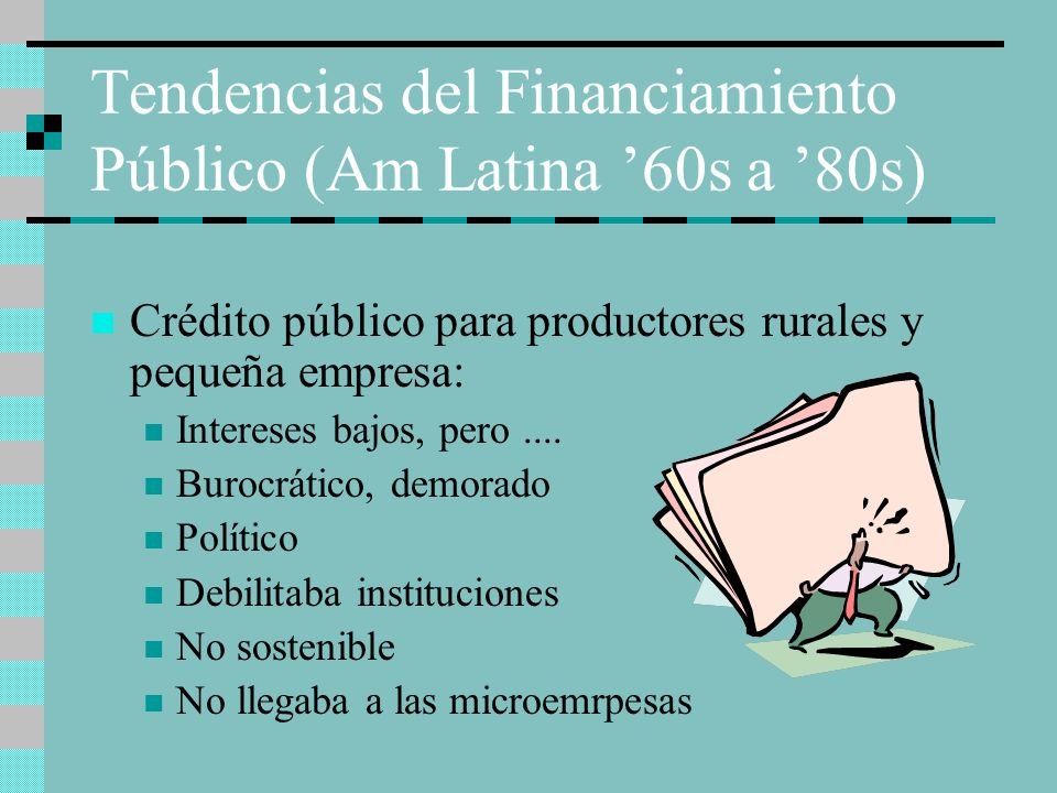 Tendencias del Financiamiento Público (Am Latina '60s a '80s)