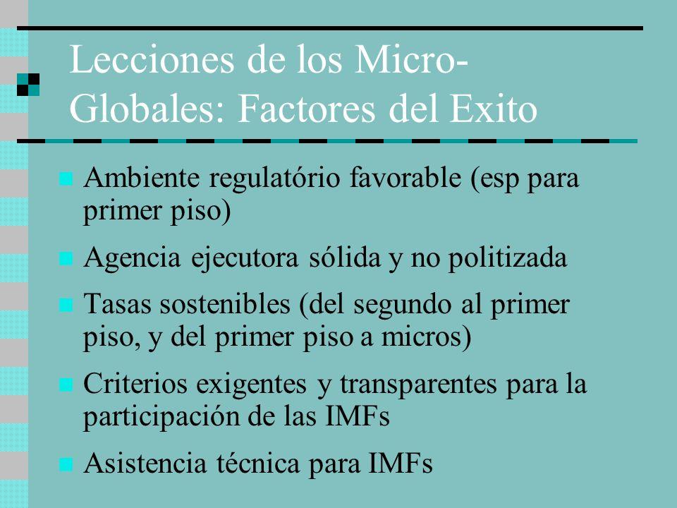 Lecciones de los Micro-Globales: Factores del Exito