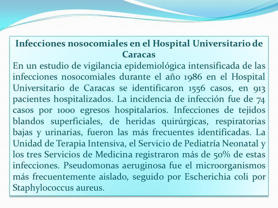 Infecciones nosocomiales en el Hospital Universitario de Caracas