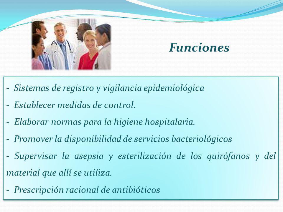Funciones - Sistemas de registro y vigilancia epidemiológica