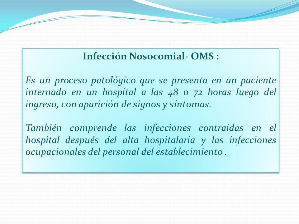 Infección Nosocomial- OMS :