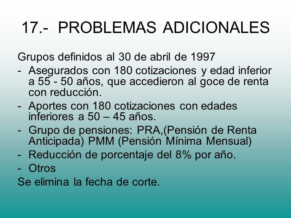 17.- PROBLEMAS ADICIONALES