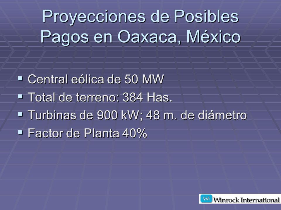 Proyecciones de Posibles Pagos en Oaxaca, México