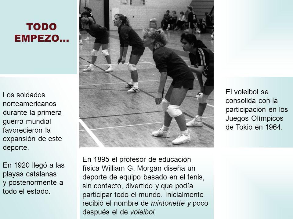 TODO EMPEZO… El voleibol se consolida con la participación en los Juegos Olímpicos de Tokio en 1964.