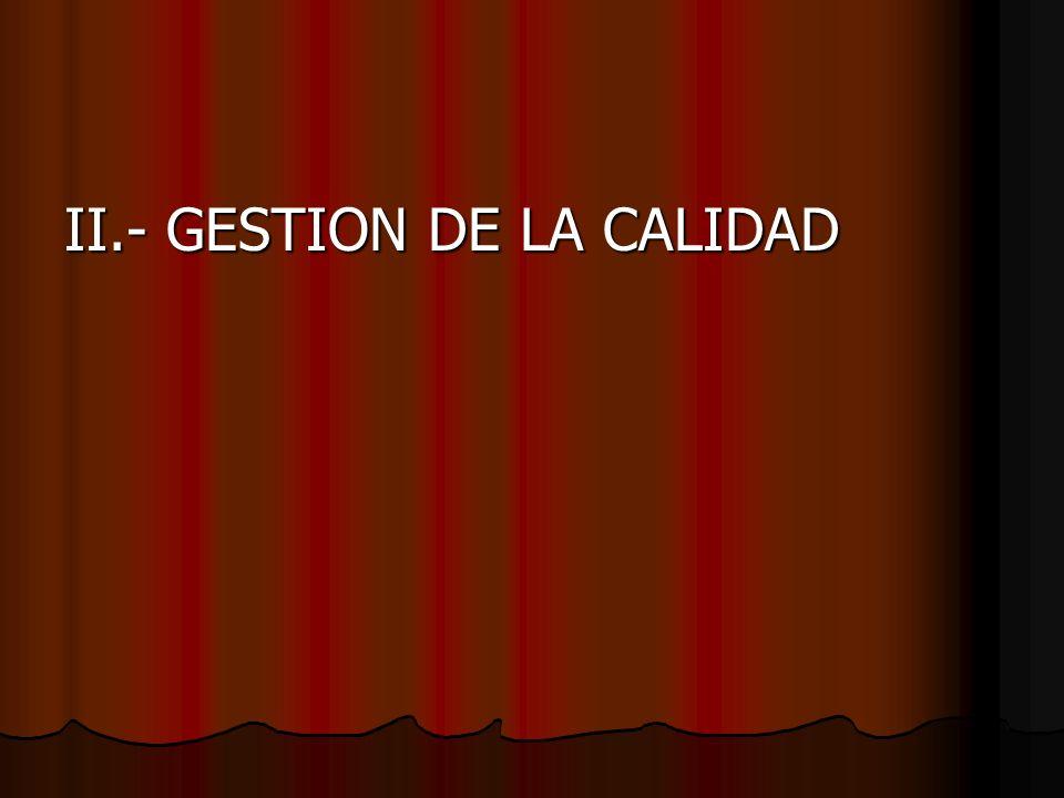 II.- GESTION DE LA CALIDAD