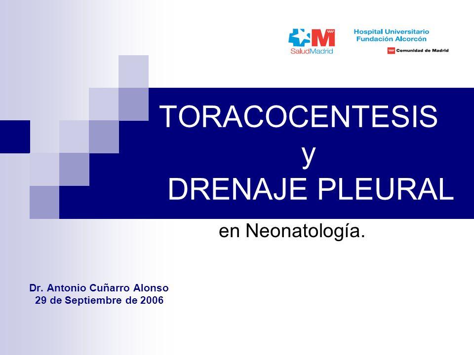TORACOCENTESIS y DRENAJE PLEURAL