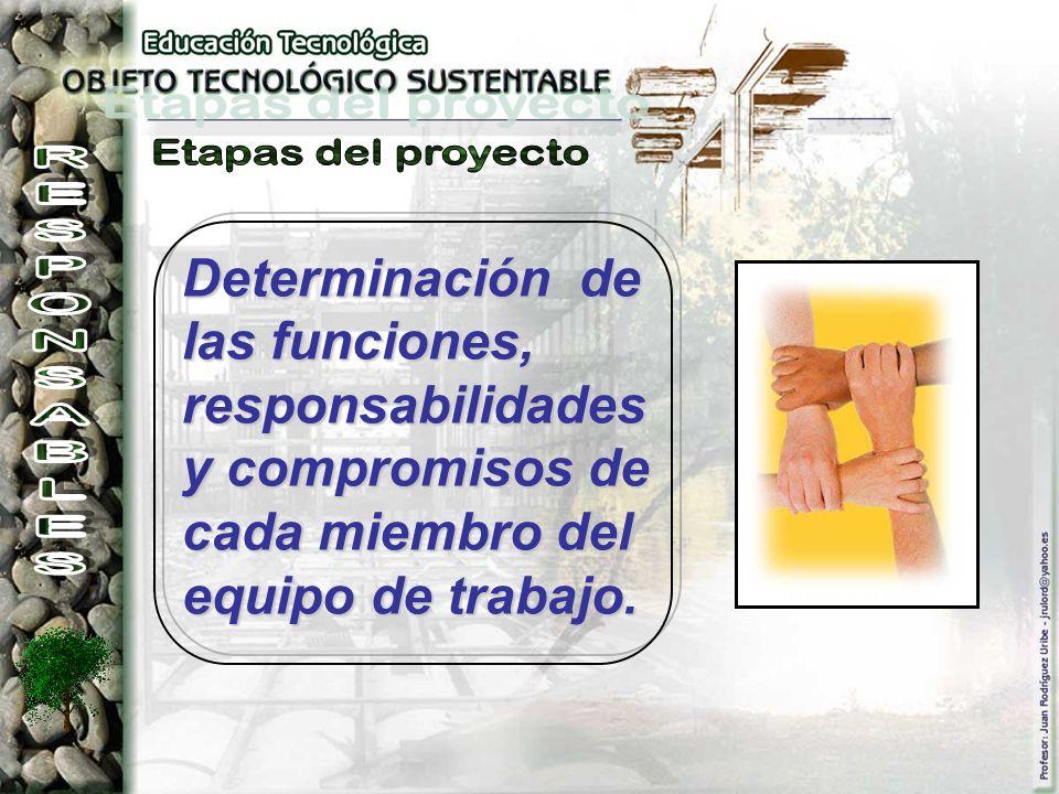 Etapas del proyecto RESPONSABLES.