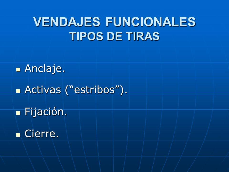 VENDAJES FUNCIONALES TIPOS DE TIRAS